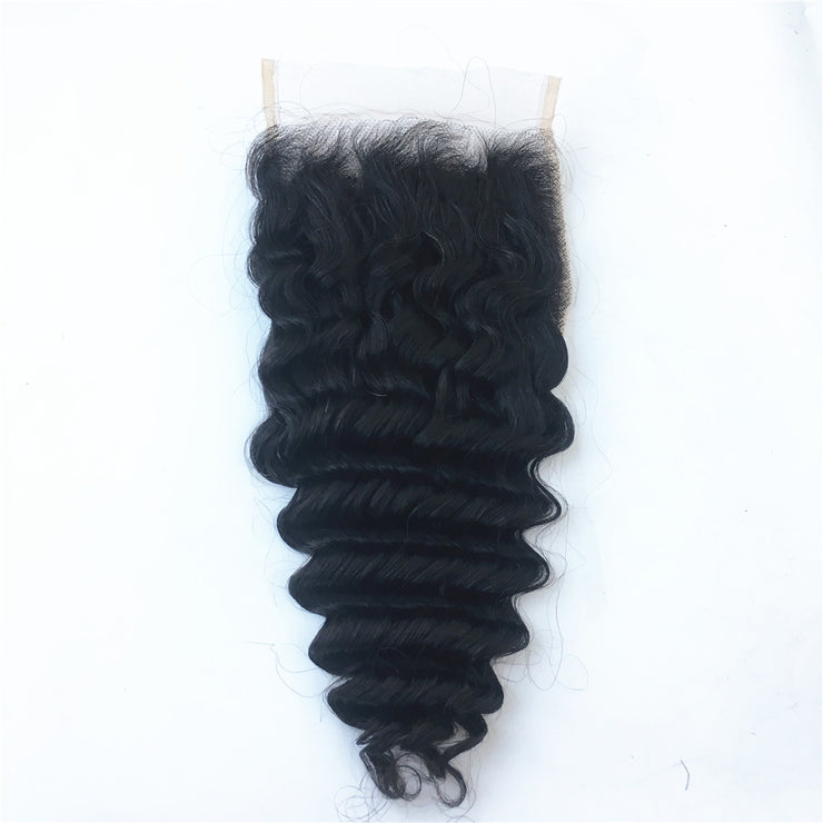 Deep Wave 5X5 HD Lace Closure Brazilian Human Virgin Hair | JYL HAIR