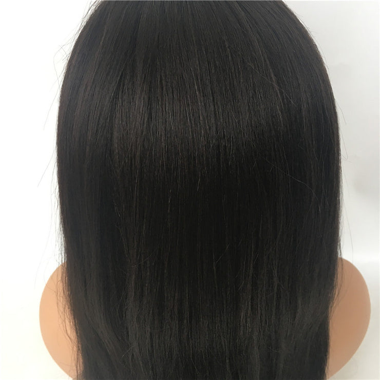 Yaki Glueless Full Lace Wig Brazilian Human Virgin Hair 130% Density | JYL HAIR