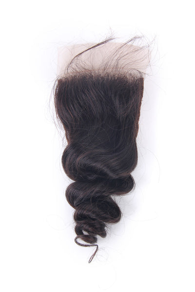 Loose Wave 4X4 Lace Closure Brazilian Human Virgin Hair | JYL HAIR