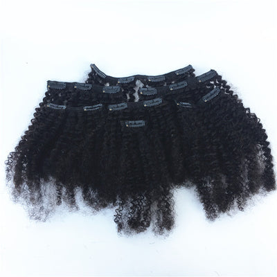 Afro Kinky Curl Brazilian Human Hair Clip-ins Hair 3PCS 100g/PC | JYL HAIR