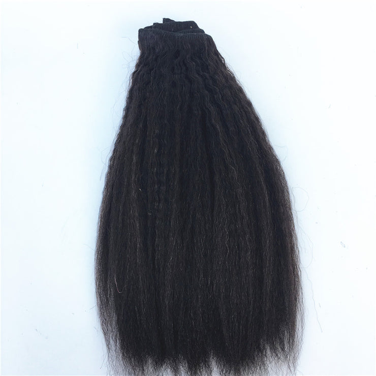 Kinky Straight Brazilian Human Hair Clip-ins Hair 3PCS 100g/PC | JYL HAIR