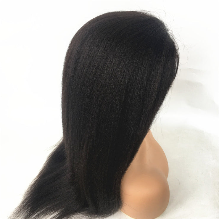 Italian Yaki Brazilian Human Virgin Remy Hair Full Lace Wig | JYL HAIR
