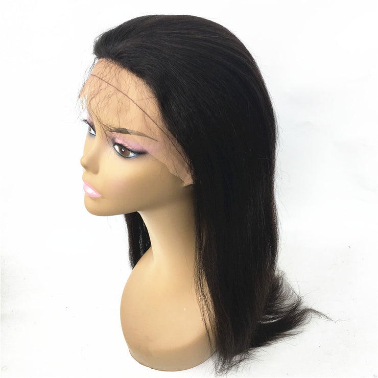 Silk Top Italian Yaki Brazilian Human Hair Glueless Wig 130% Density | JYL HAIR