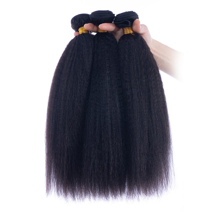 Italian Yaki Brazilian Human Hair Bundles Machine Wefts 3PCS 100g/PC | JYL HAIR