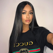 Silk Top Natural Straight Lace Front Wigs Brazilian Human Hair | JYL HAIR