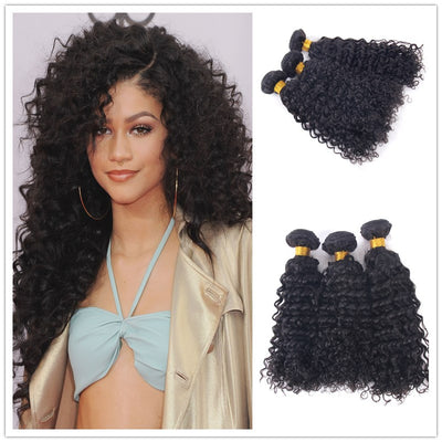 Curly Hair Bundles Brazilian Human Hair Machine Wefts 3PCS 100g/PC | JYL HAIR