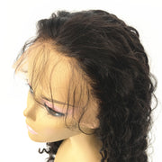Wavy Brazilian Human Hair Silk Top Glueless Full Lace Wig Natural Color | JYL HAIR