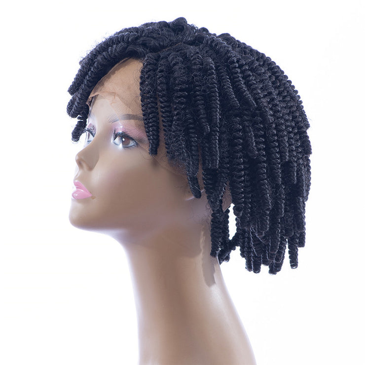 Synthetic Hair Kinky Curl Lace Front Wigs Left Part | JYL HAIR
