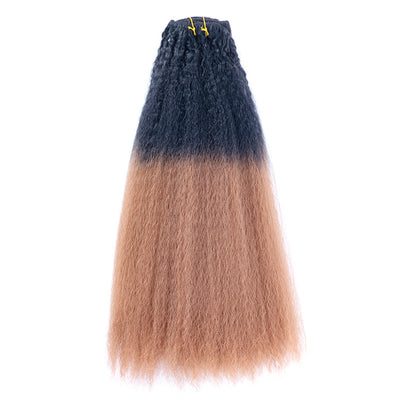 Synthetic Hair Kinky Straight Ombre Color Clips-in Hair | JYL HAIR