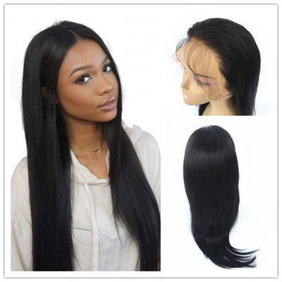 Natural Straight 360 Lace Wigs Brazilian Human Hair 150% Density | JYL HAIR