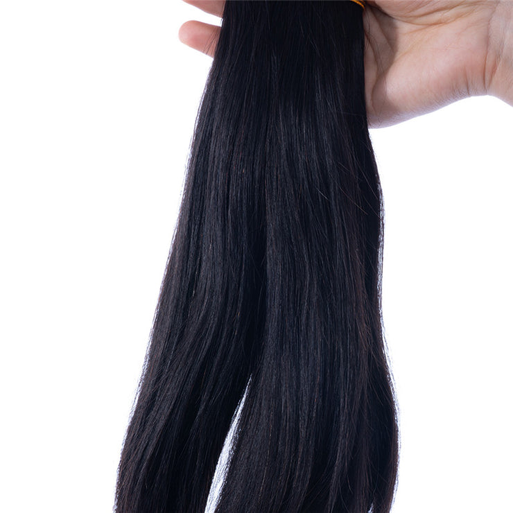 Natural Straight Brazilian Human Hair Bundles Machine Wefts 3PCS 100g/PC | JYL HAIR