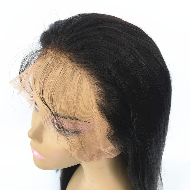 Straight Brazilian Human Hair Natural Color Full Lace Wig 130% Density | JYL HAIR