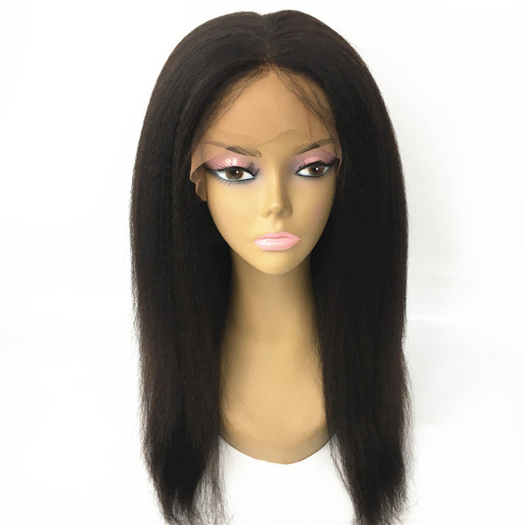Silk Top Italian Yaki 360 Wigs Brazilian Human Hair 150% Density | JYL HAIR