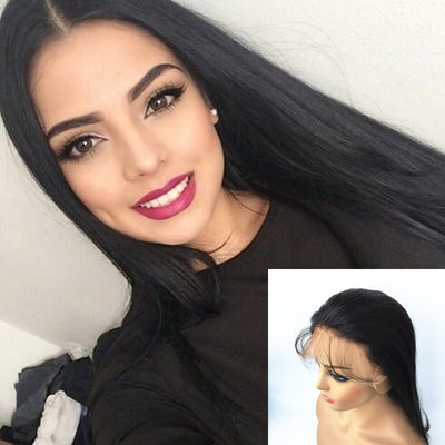 Natural Straight Lace Front Wigs Brazilian Human Hair Pre-plucked | JYL HAIR