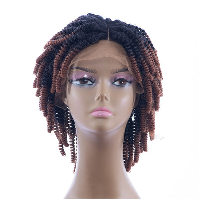 Synthetic Hair Kinky Curl Ombre Color Lace Front Wigs | JYL HAIR