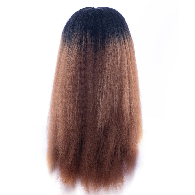 Synthetic Hair Kinky Straight Ombre Color Lace Front Wigs | JYL HAIR