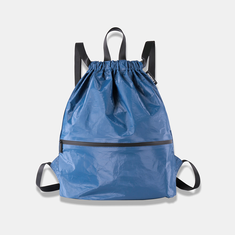 Drawstring Backpack Blue