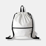 Drawstring Backpack White