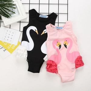 dc503d34018c Home Baby Girls Clothing Page 1 of 2. JoJo Ruffled Swan Bathing Suit
