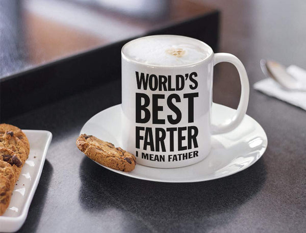 Tstars World's Best Farter, I Mean Father Coffee Mug Christmas, for Dad, Grandpa, Husband from Son, Daughter, Grandson, Granddaughter, Wife Birthday Gift for Men Ceramic Mug 15 Oz. White - gift-siri
