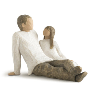 Willow Tree Father and Daughter, sculpted hand-painted figure - gift-siri