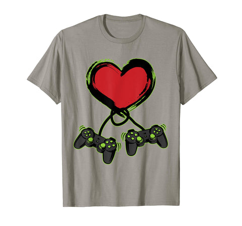 Video Gamer Heart Controller Valentine's Day Shirt Kids Boys T-Shirt - gift-siri