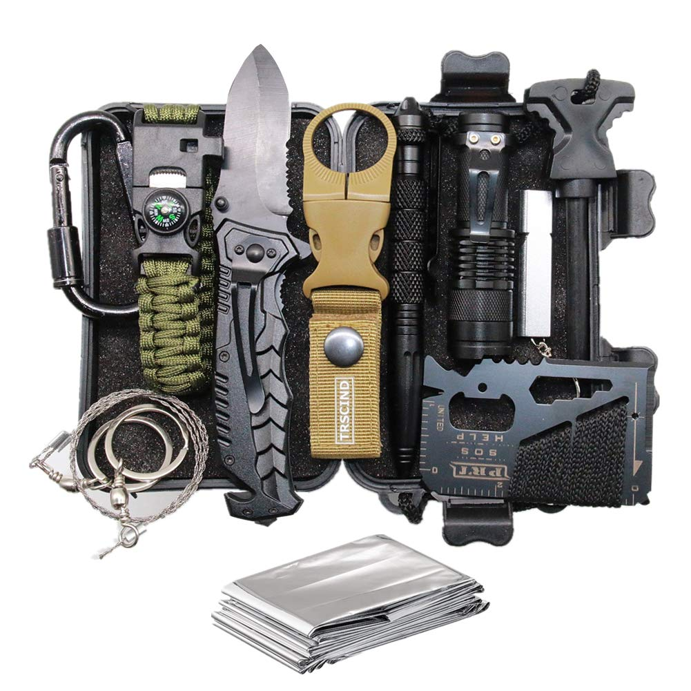 Cool & Unique Birthday Gift for Him Men Husband Dad Boyfriend Boys, Fun Gadget Mens Gifts Ideas, 11-in-1 Survival Gear Kits, EDC Emergency Tools and Everyday Carry Gear, Official Survival Kit - gift-siri