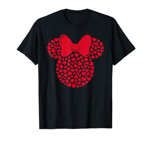 Disney Minnie Mouse Icon Filled with Hearts T-Shirt - gift-siri