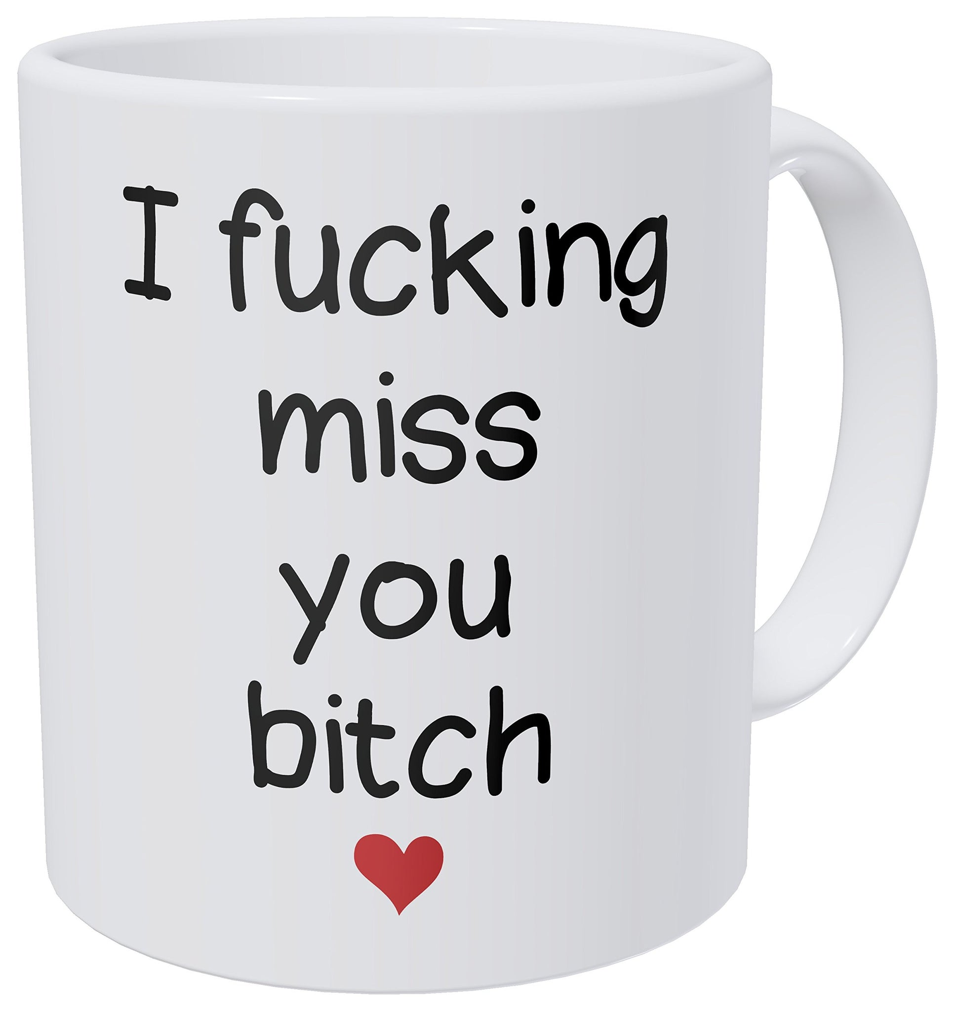 A Mug To Keep - I Miss You B Fiend, Heart, Girlfriends, Long Distance Frienship - 11 Ounces Gift Coffee Mug - Funny Inspirational And Motivational - gift-siri