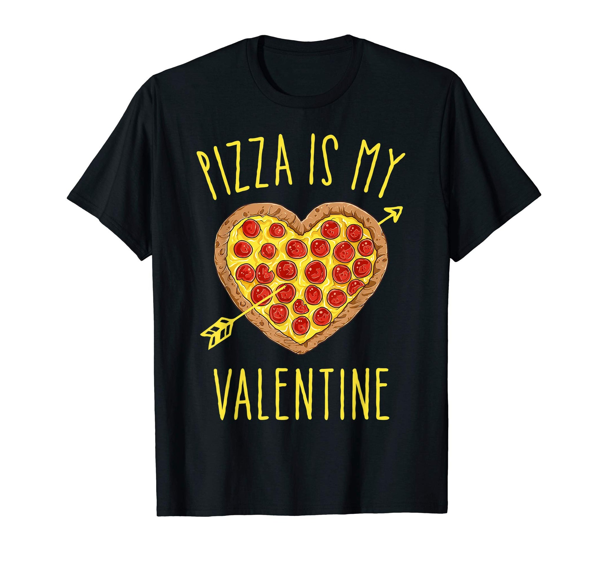 Pizza Is My Valentine Funny Valentines Day Gifts Boys Kids T-Shirt - gift-siri