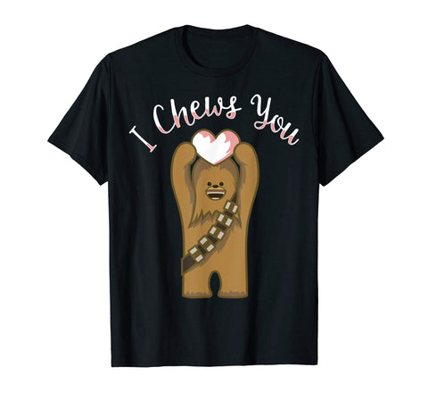 Star Wars Valentines I Chews You Chewbacca Graphic T-Shirt - gift-siri