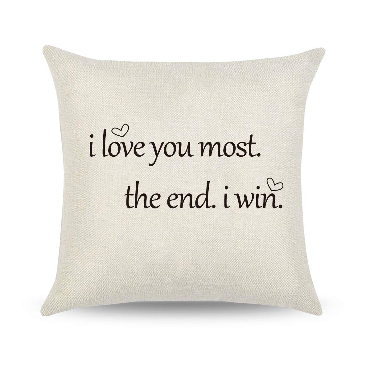 CARRIE HOME Love You More Pillow Covers 18x18 Love Gifts for Girlfriend Decorative Throw Pillow Cover for Home Sofa Couch - gift-siri