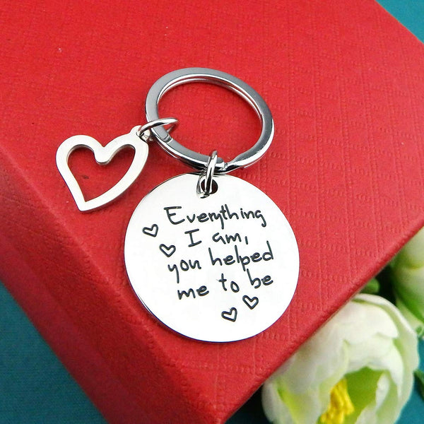 ALoveSoul Mom Keychain - Everything I Am You Helped Me to Be, Keychain Gifts for Mom - gift-siri