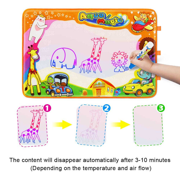 "Betheaces Water Drawing Mat Aqua Magic Doodle Kids Toys Mess Free Coloring Painting Educational Writing Mats Xmas Gift for Toddlers Boys Girls Age of 2,3,4,5,6 Year Old 34.5"" X 22.5"" in 6 Colors - gift-siri"