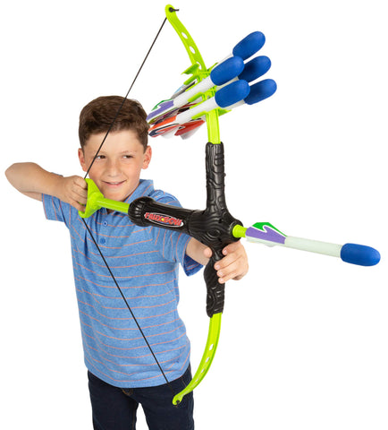 Marky Sparky Faux Bow 3 - Shoots Over 100 Feet - Foam Bow & Arrow Archery Set - gift-siri