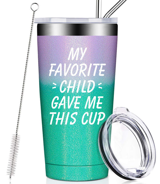 My Favorite Child Gave Me This Cup, Best Mom Birthday Gifts from Daughter, Son, Kids - Mother's Day, Father's Day, Christmas Gifts Idea for Dad, Grandma, Papa, Nana, Women, Men, Wine Tumbler - gift-siri