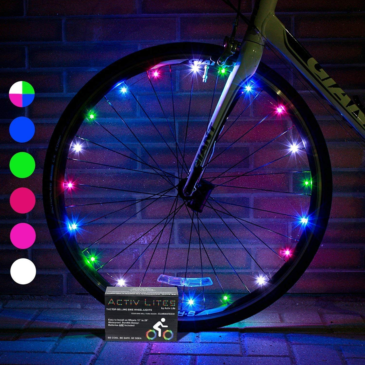 Activ Life LED Bicycle Light (1 Tire, Multicolor) Xmas Gifts for Kids Fun, Top Secret Santa Gifts 2019 X-mas, Popular Children Toys, Best for Hot Outdoor Family Child Bday Party Regalos de Navidad - gift-siri