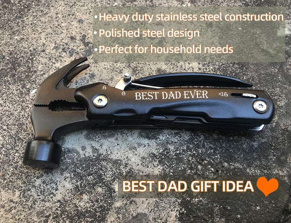 Gifts for Dad from Daughter Son, Unique Birthday Gift Ideas for Men Father Him, Cool Gadget Christmas Present Stocking Stuffer for Men, All in One Tools Mini Hammer Multitool - gift-siri