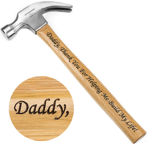Gift for Father - Laser Engraved Hammer (Daddy, Thank You For Helping Me Build My Life!) - gift-siri