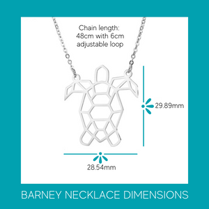Barney The Sea Turtle Necklace (available in silver & gold)