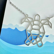 Load image into Gallery viewer, Barney The Sea Turtle Necklace (available in silver & gold)
