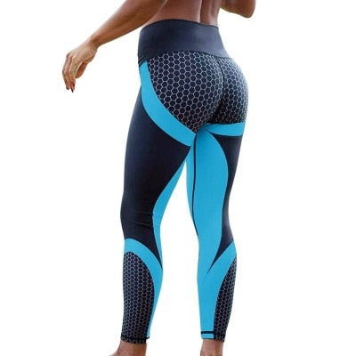 Fitness Clothing Seamless Sport Printed Yoga Pants - AOMEGA Marketplace