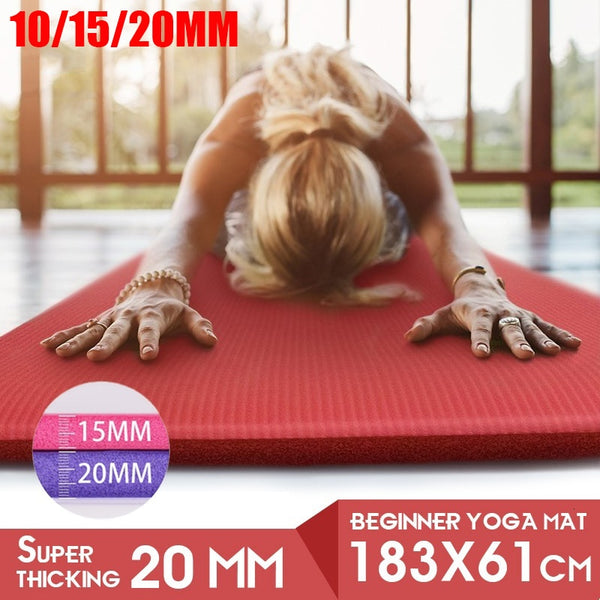 1830*610*20/15/10mm Thickness Non-Slip Soft Pilates Yoga Mat - AOMEGA Marketplace