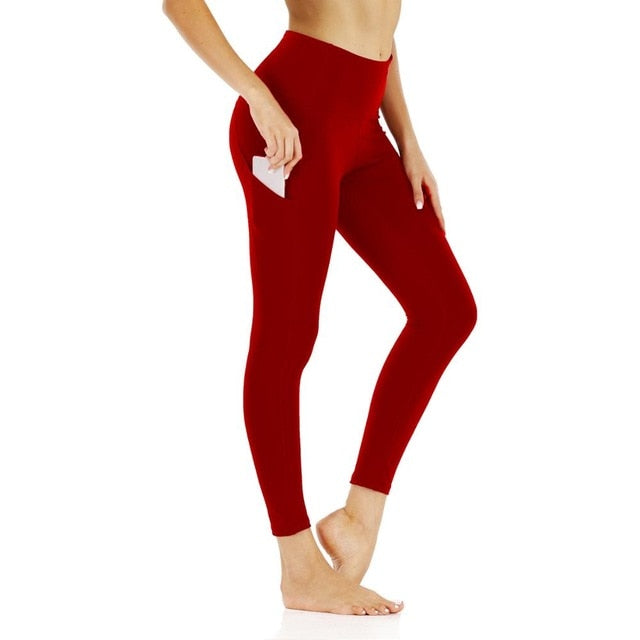 Fitness Sport Leggings Tights Slim Running Yoga Pants - AOMEGA Marketplace