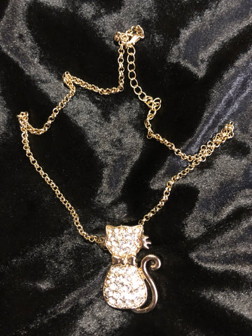 Sparkly Cat Necklace
