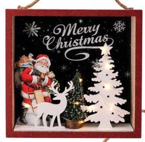 3-D Santa Wall Art (Lights up!)