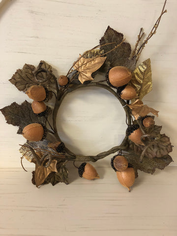 Acorn Candle Ring/Wreath