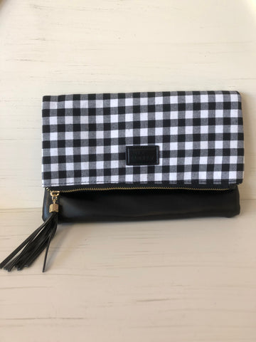Gingham/Buffalo Check Clutch