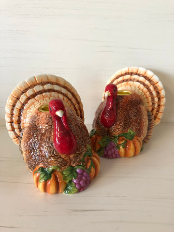 Turkey Candlestick Holders