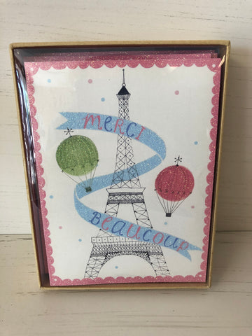 Eiffel Tower Thank You Cards
